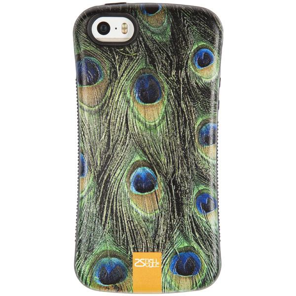 کاور 2شل استایل طرح Peacock feather مناسب برای گوشی موبایل اپل iPhone 5/5s/SE