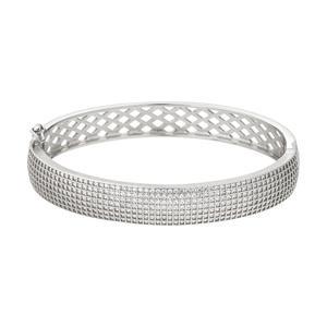 دستبند النگویی نقره زنانه کد v1