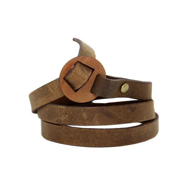 دستبند چرم لانکا مدل BB-9