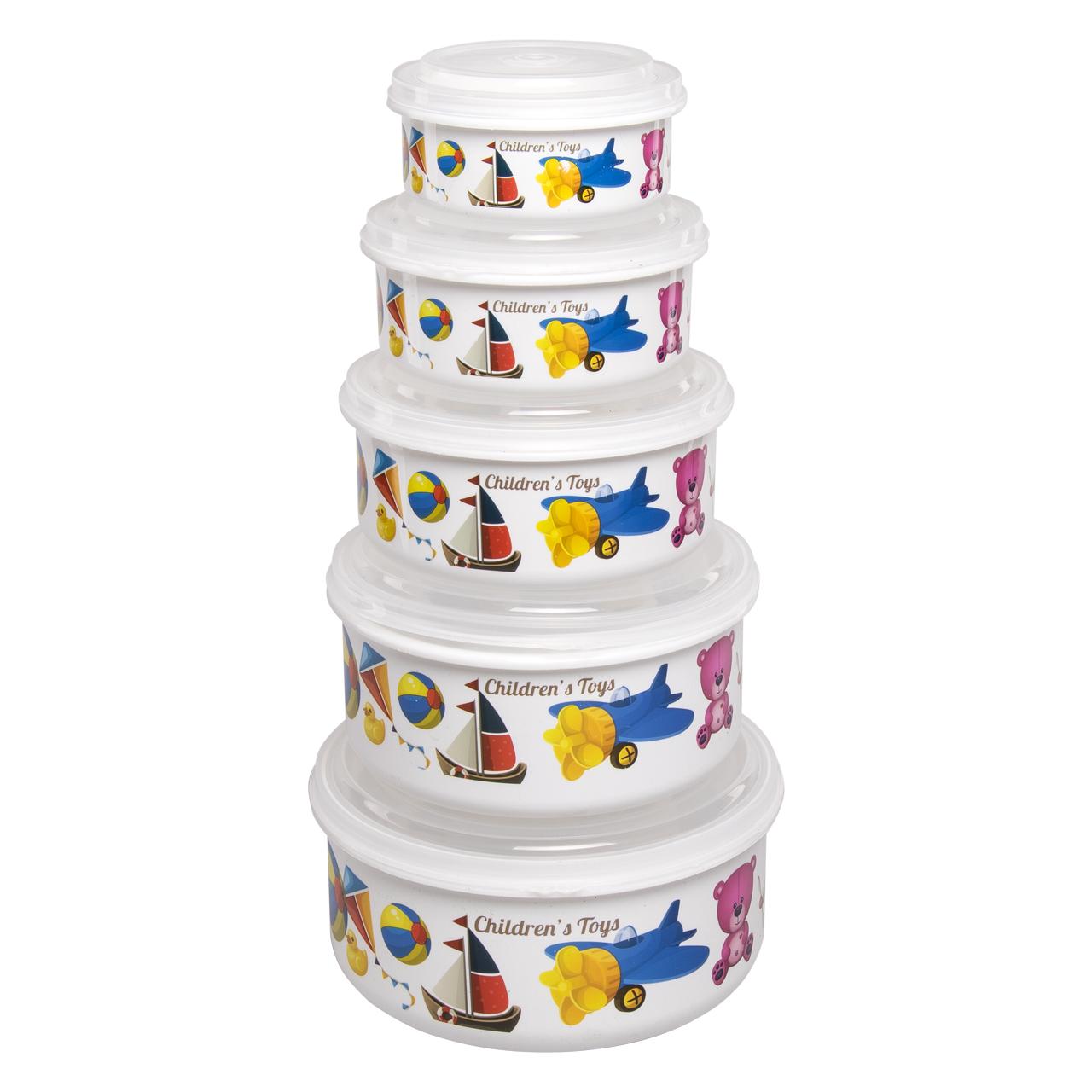 ظروف نگهدارنده غذای کودک فرش کیپس کد 3013  بسته 5 عددی