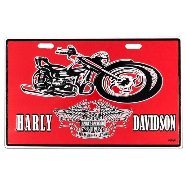 پلاک موتور سیکلت مدل harley01