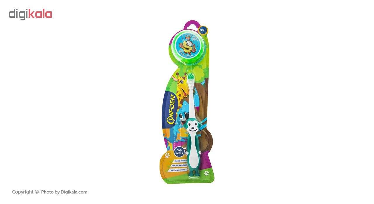 مسواک کانفیدنت مدل Tiny Monkey با برس نرم main 1 9