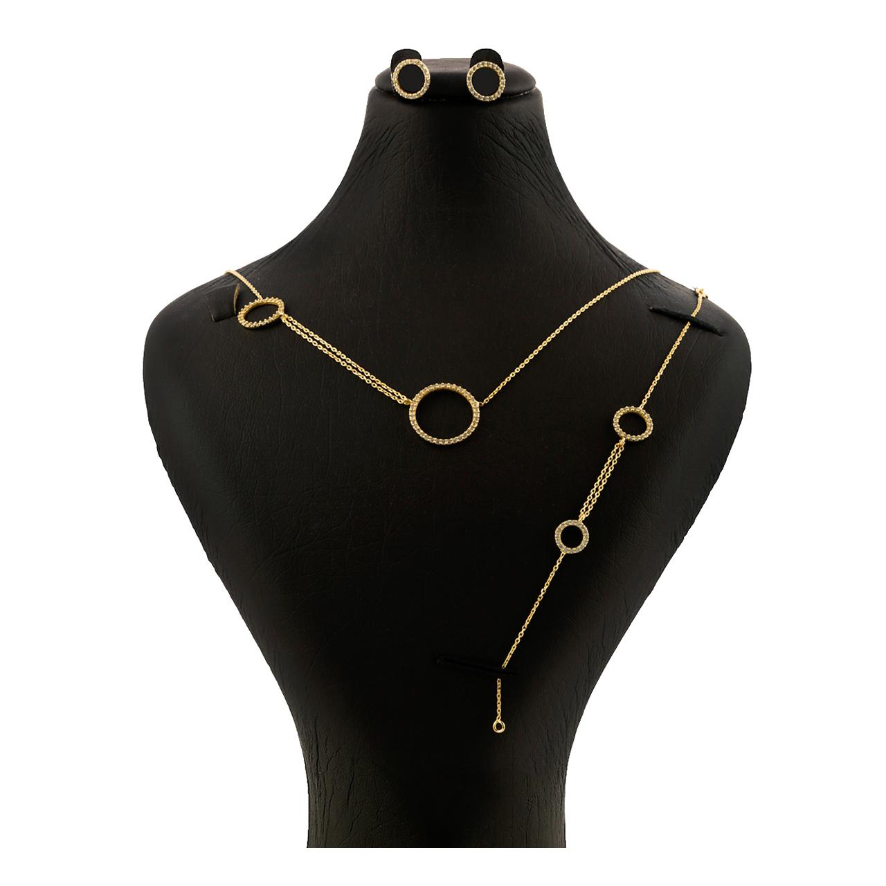 ست کامل طلا 18 عیار جواهری سون مدل 2190