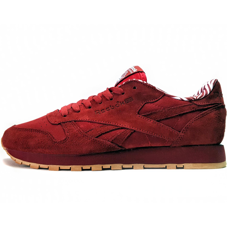 کفش مخصوص پیاده روی مردانه مدل Classic Leather Red Suede