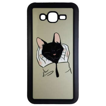 کاور طرح گربه کد 10553 مناسب برای گوشی موبایل سامسونگ galaxy j7 2015