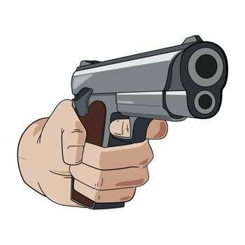 استیکر لپ تاپ وی وین آرت طرح اسلحه کد P109