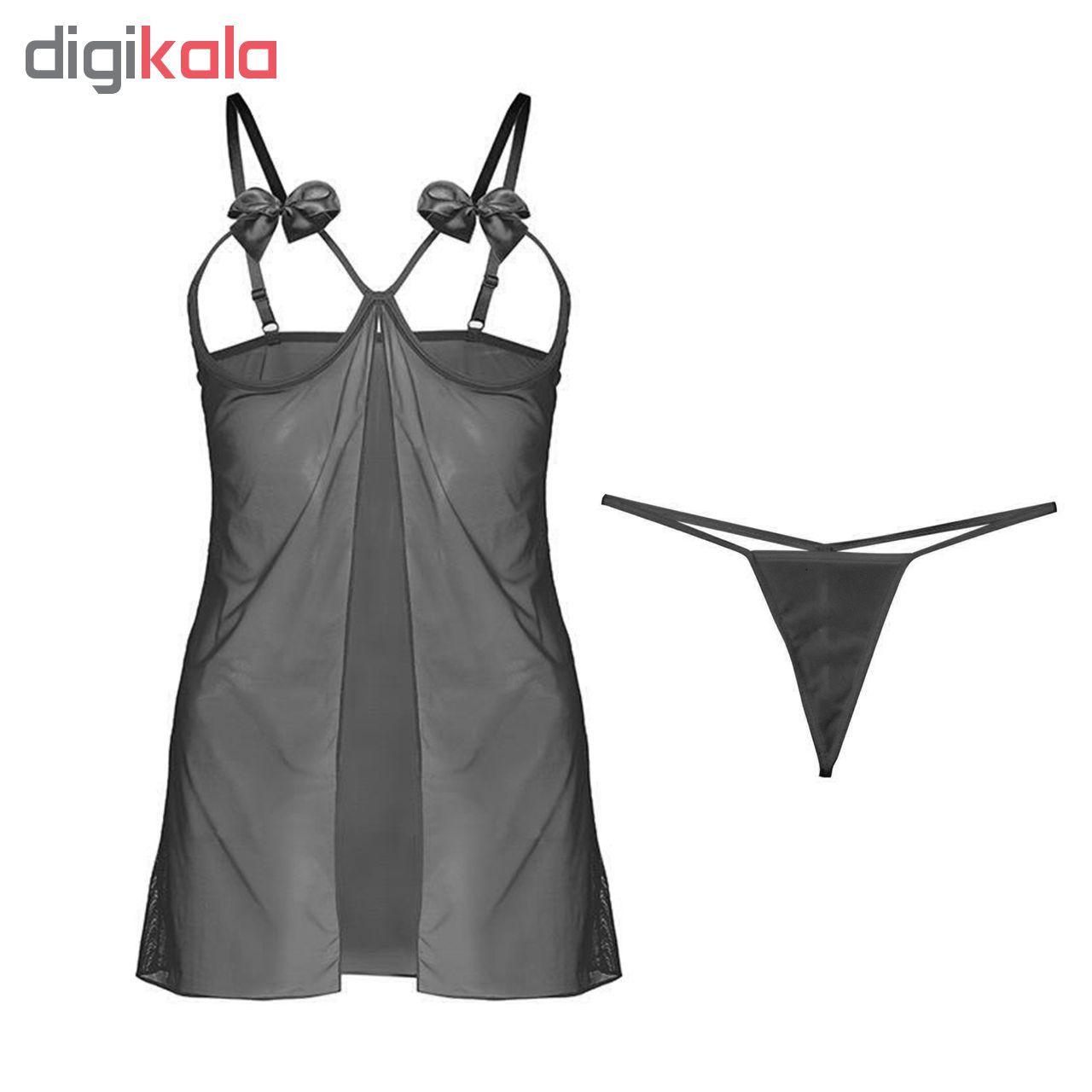 ست لباس خواب و شورت زنانه مدل K14 main 1 1