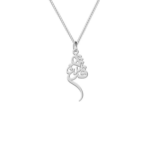 گردنبند نقره زنانه ترمه 1 طرح فرشته کد L261