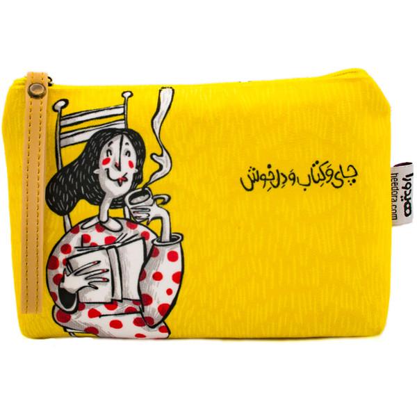 کیف لوازم آرایش هیدورا طرح چای و کتاب