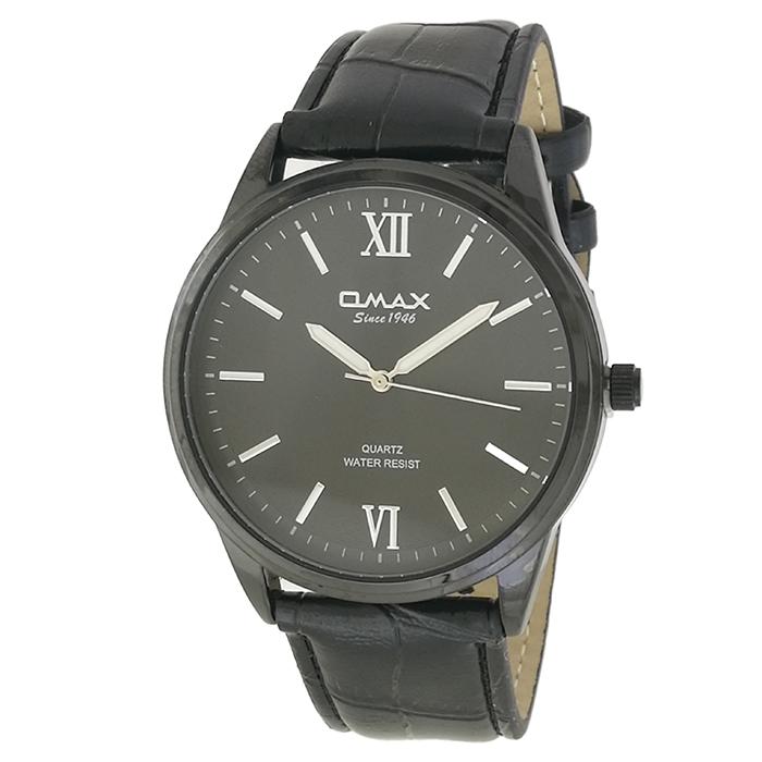 ساعت مچی عقربه ای مردانه اوماکس مدل jx03m به همراه دستمال مخصوص برند کلین واچ
