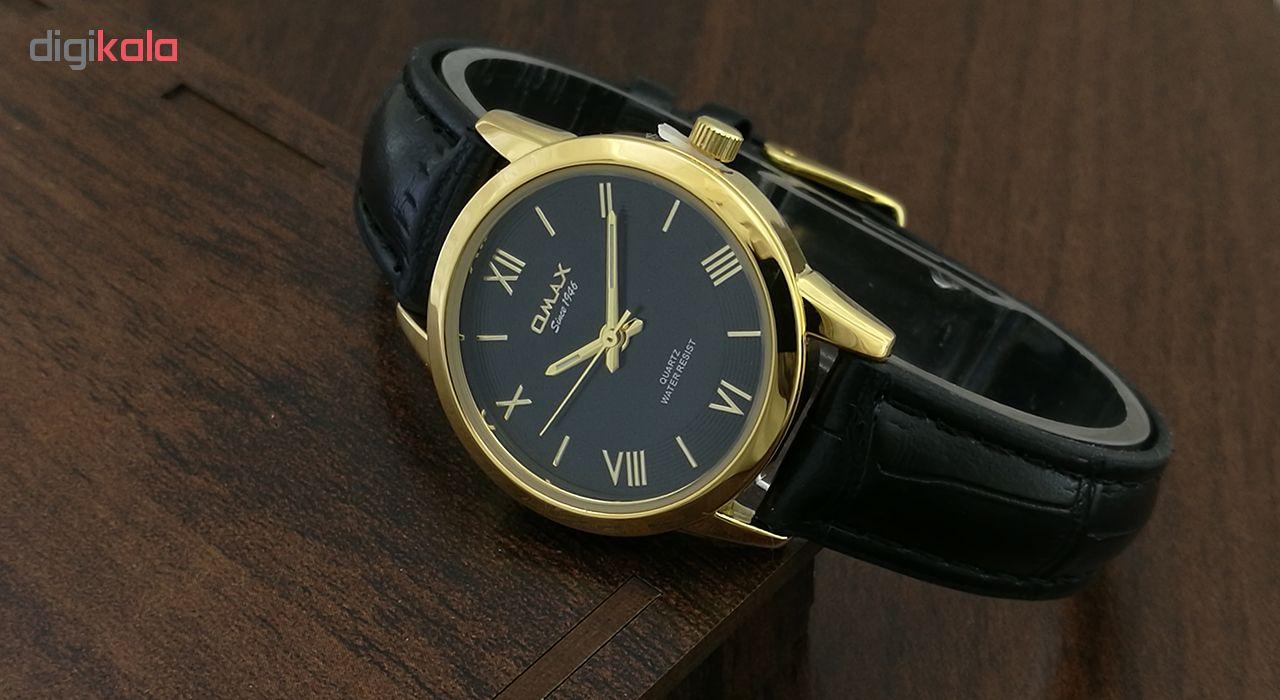 ساعت مچی عقربه ای زنانه اوماکس مدل pr0004 به همراه دستمال مخصوص برند کلین واچ