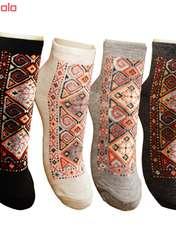 جوراب زنانه طرح سنتی کد 05 بسته 4 عددی -  - 6
