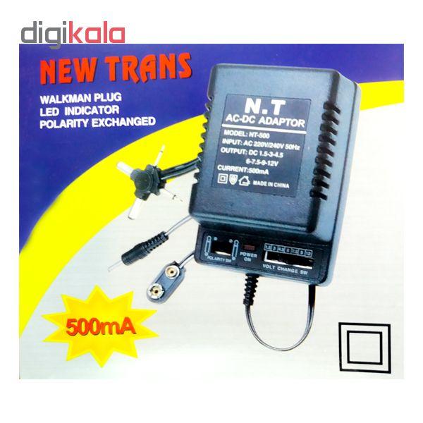 خرید اینترنتی آداپتور 12 ولت 500 میلی آمپر مدل NT-500 اورجینال
