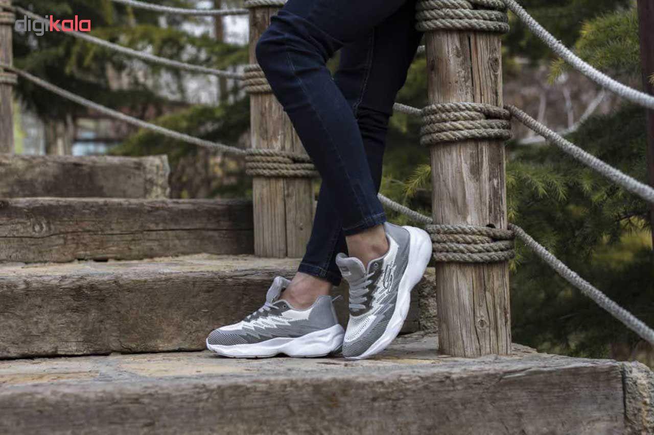 کفش مخصوص پیاده روی مردانه پافیکس کد 056 رنگ طوسی
