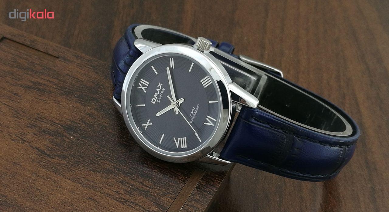 ساعت مچی عقربه ای زنانه اوماکس مدل pr0004s به همراه دستمال مخصوص برند کلین واچ