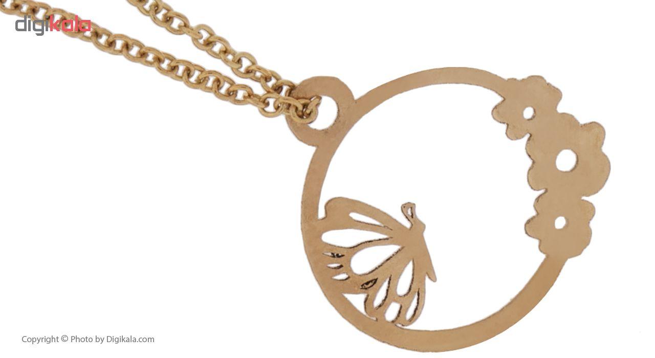 آویز ساعت طلا 18 عیار درنیکا مدل Dw2123