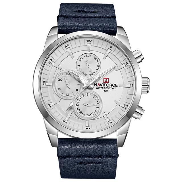 ساعت مچی عقربه ای مردانه نیوی فورس مدل NF9148M / SO-SE به همراه دستمال مخصوص نانو برند کلیر واچ