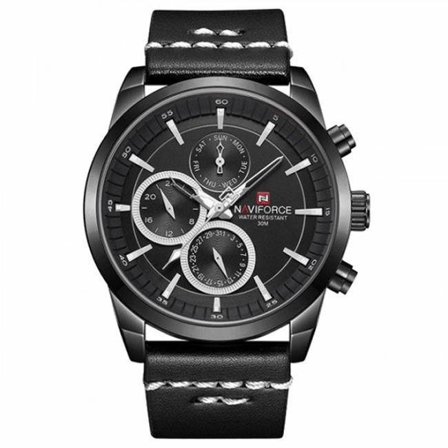ساعت مچی عقربه ای مردانه نیوی فورس مدل NF9148M / ME-ME به همراه دستمال مخصوص نانو برند کلیر واچ