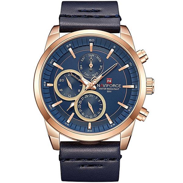 ساعت مچی عقربه ای مردانه نیوی فورس مدل NF9148M / SO -TA به همراه دستمال مخصوص نانو برند کلیر واچ