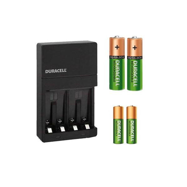 شارژر باتری دوراسل مدل CEF14 به همراه 2 عدد باتری قلمی و نیم قلمی