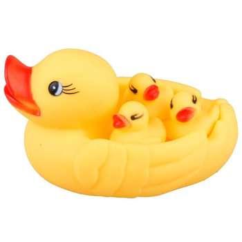 عروسک حمام  طرح اردک کد uk14  بسته 4 عددی