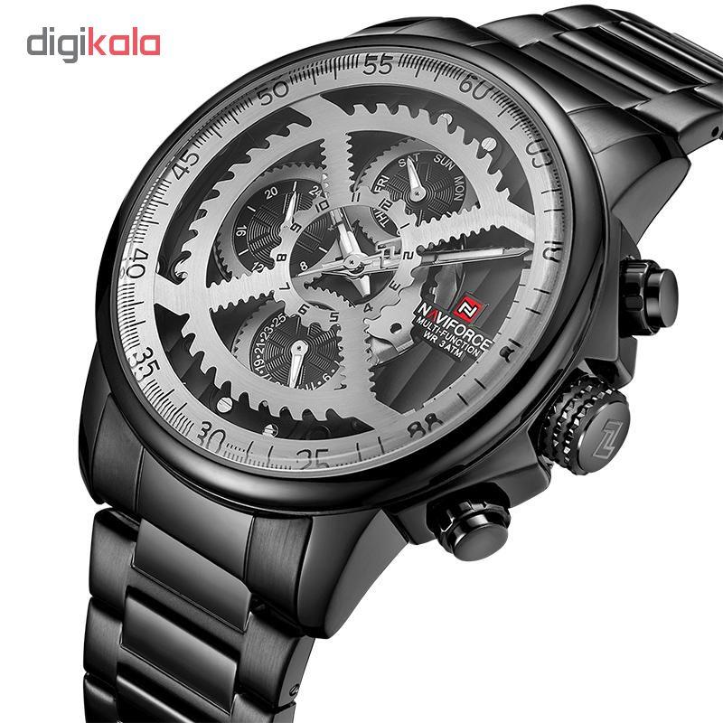 ساعت مچی  مردانه نیوی فورس مدل NF9150M / ME-TO به همراه دستمال مخصوص نانو برند کلیر واچ              اصل