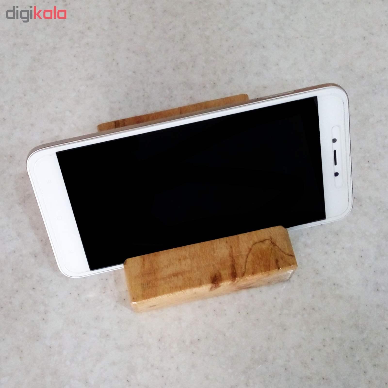 پایه نگهدارنده گوشی موبایل استند تبلت چوبی چوبیس کد 1-351 main 1 3