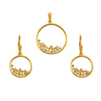 نیم ست طلا 18 عیار جواهری سون مدل 2207