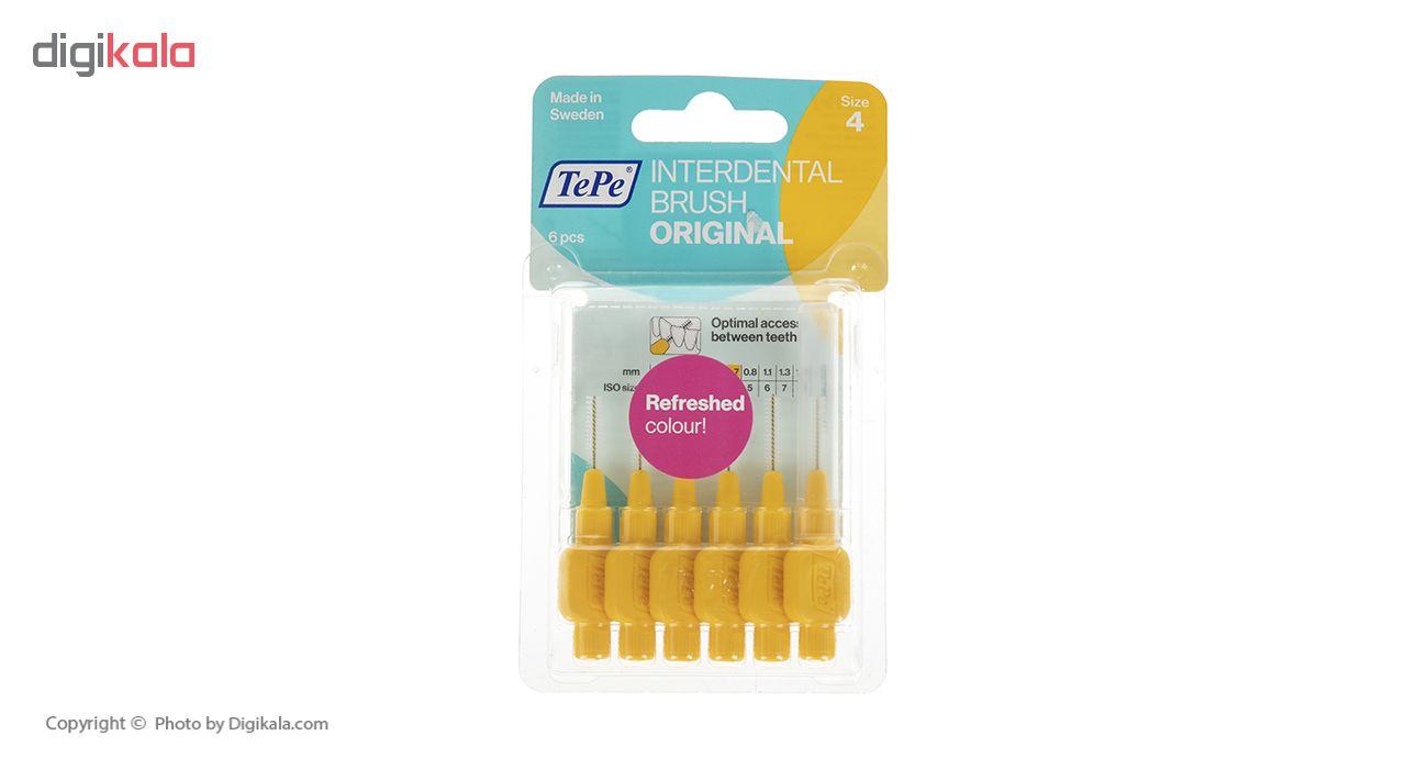 مسواک بین دندانی تپه مدل Orginal سایز 4 بسته 6 عددی main 1 1
