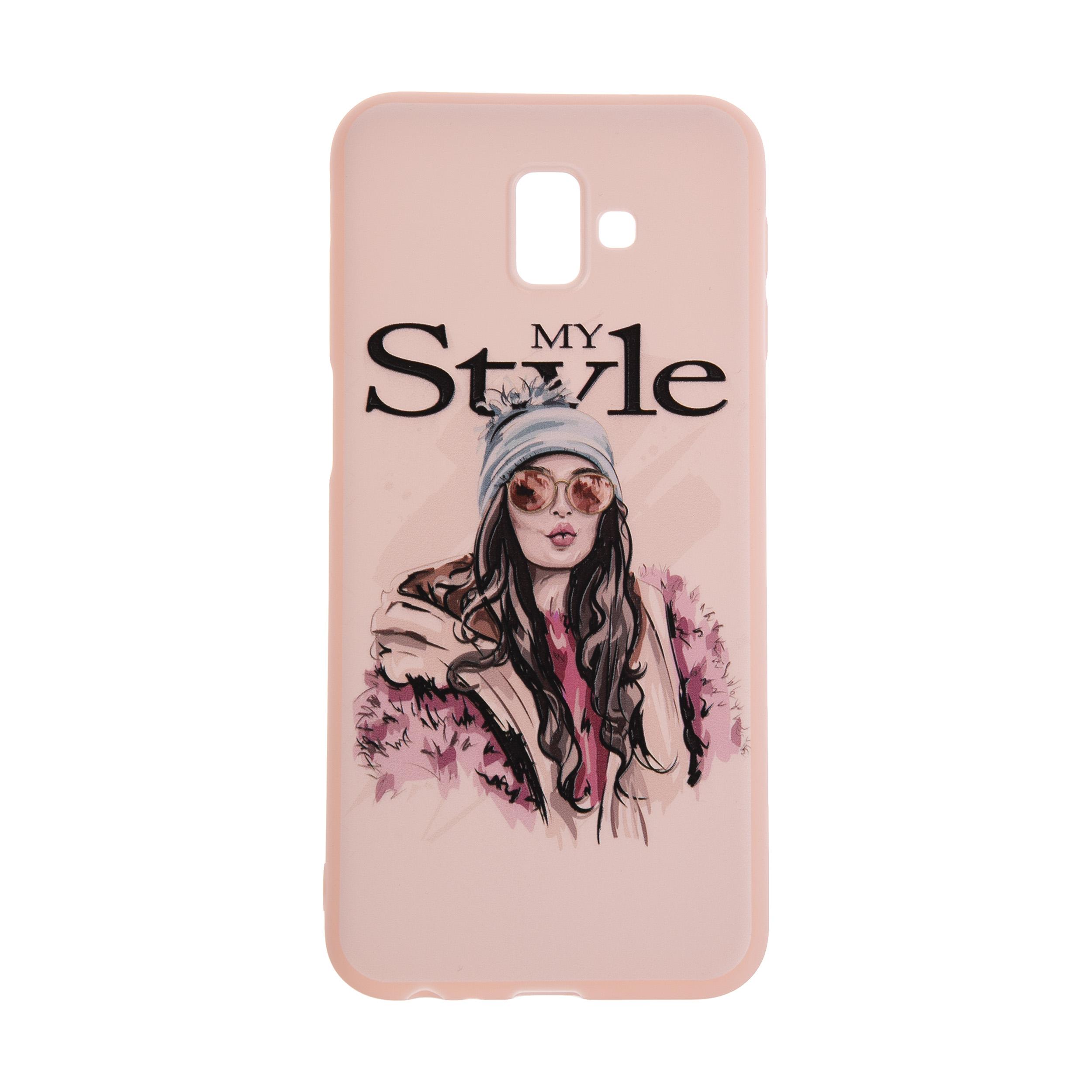 کاور مدل TNG طرح Violet My Style مناسب برای گوشی موبایل سامسونگ Galaxy J6 Plus