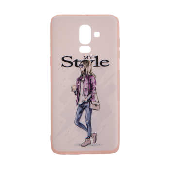 کاور مدل TNG طرح Pink My Style مناسب برای گوشی موبایل سامسونگ Galaxy J8