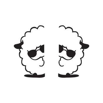استیکر کلید پریز طرح گوسفند کد ۰۲ بسته 2 عددی