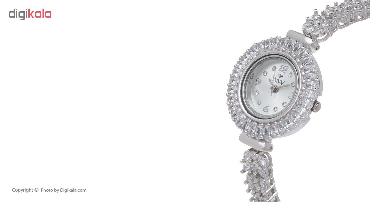 ساعت مچی عقربه ای نقره زنانه ای ان وی مدل ANV-1