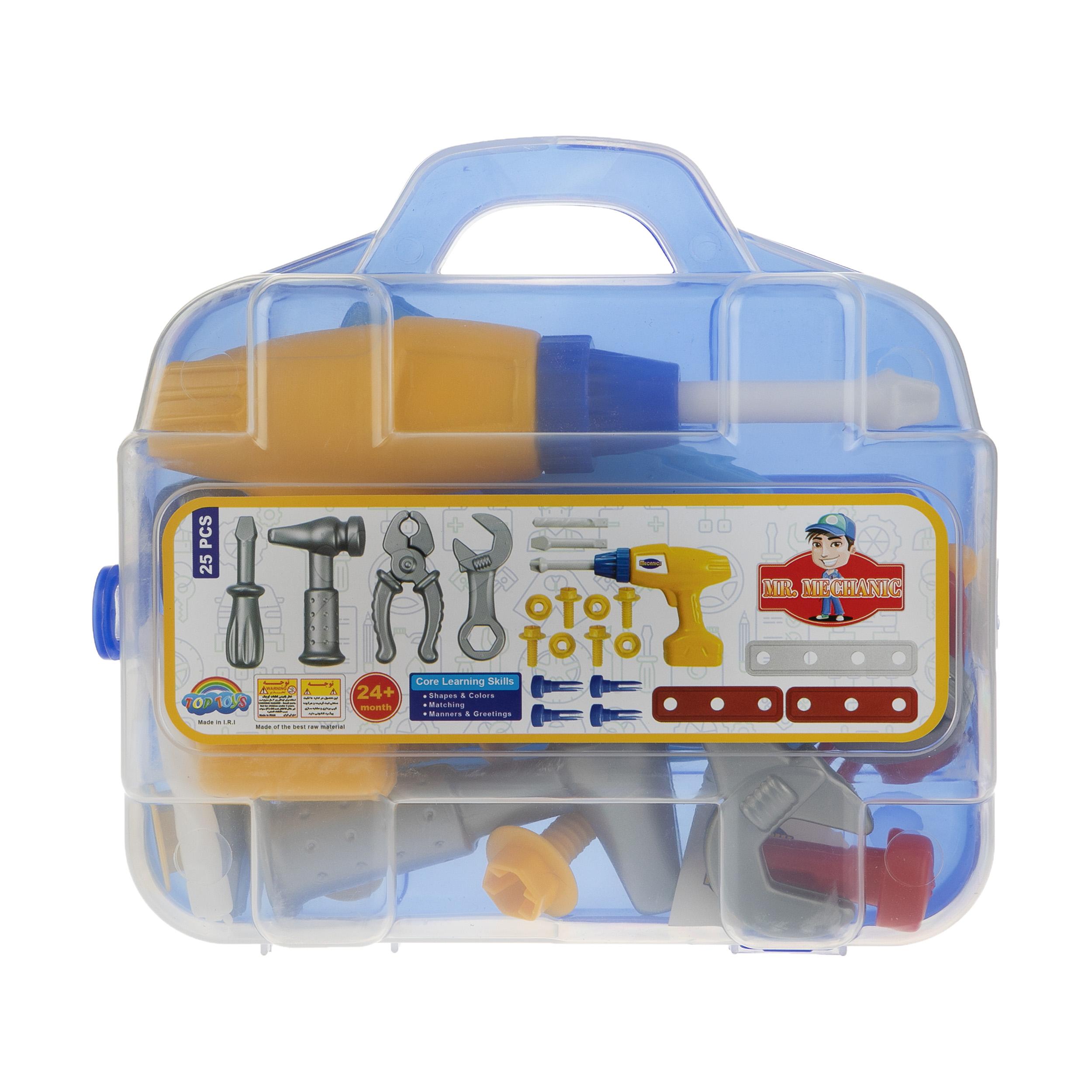 خرید                     ست اسباب بازی ابزار مکانیکی کودک مدل Mr.Mechanic