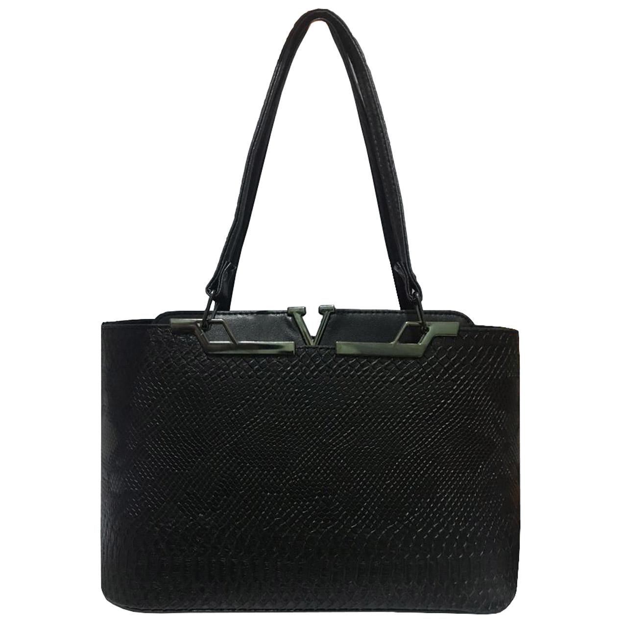 کیف دستی زنانه مدل 2-340 به همراه جاسوییچی چرم طبیعی طرح کفش هدیه