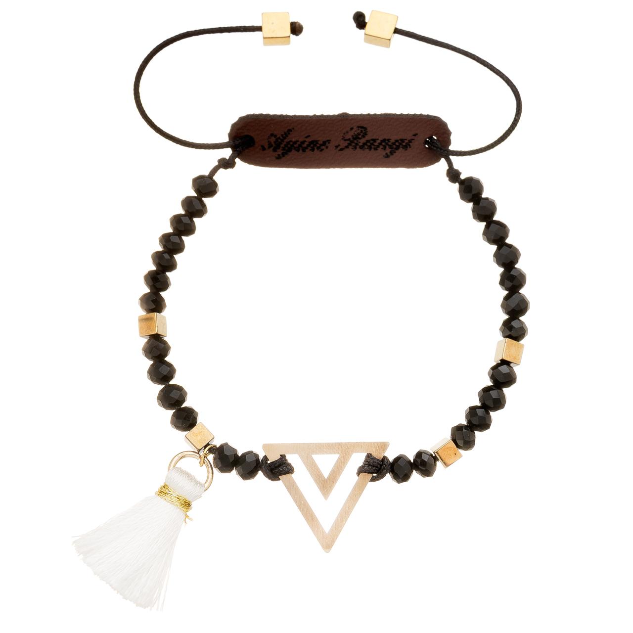 دستبند طلا 18 عیار آیینه رنگی طرح مثلث کد AR-M02