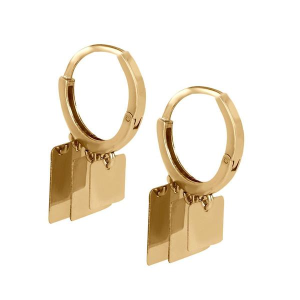 گوشواره طلا 18 عیار گالری مرجان کد 0883