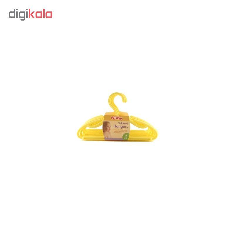 چوب لباسی نوزادی نوبی کد ID 128 رنگ زرد بسته 10 عددی