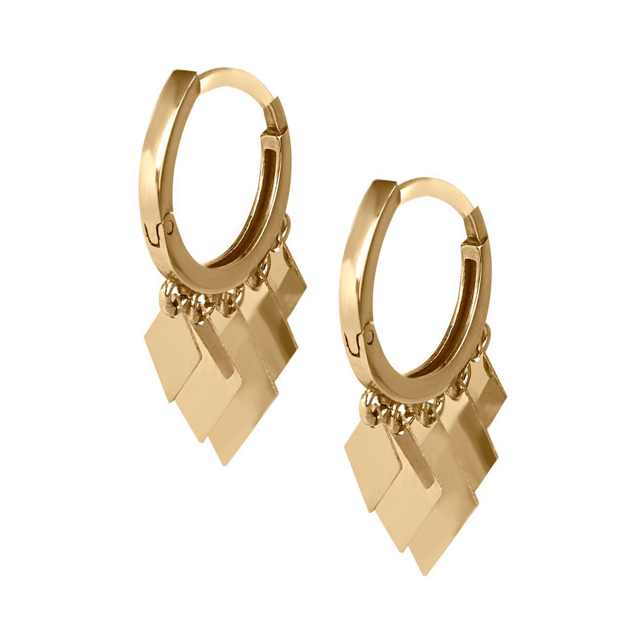 قیمت گوشواره طلا 18 عیار گالری مرجان مدل 0890