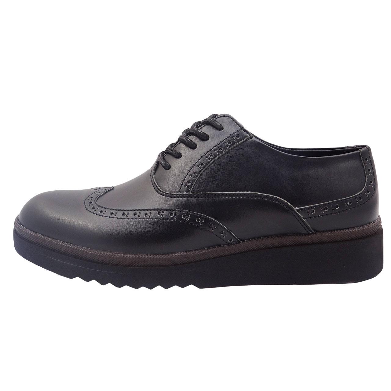 قیمت کفش چرمی مردانه طرح هشت ترک کد A4