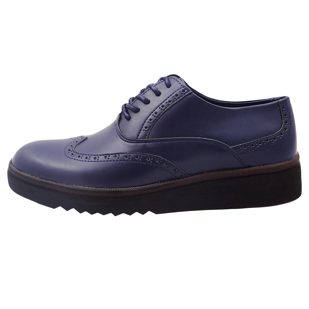 کفش چرمی مردانه طرح هشت ترک کد A5