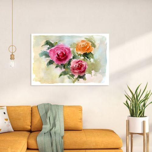 تابلو  طرح گل رز رنگارنگ کد AX14211