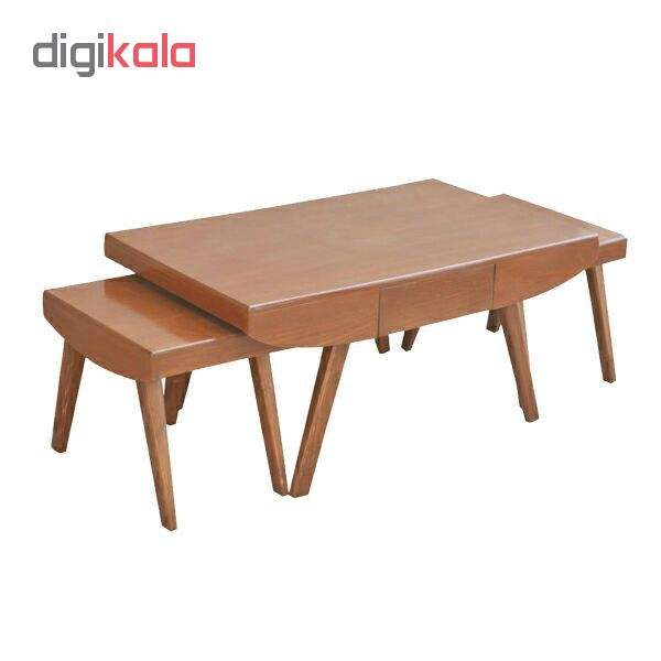 میز پذیرایی مدل قایقی کدA3 مجموعه 3 عددی main 1 1