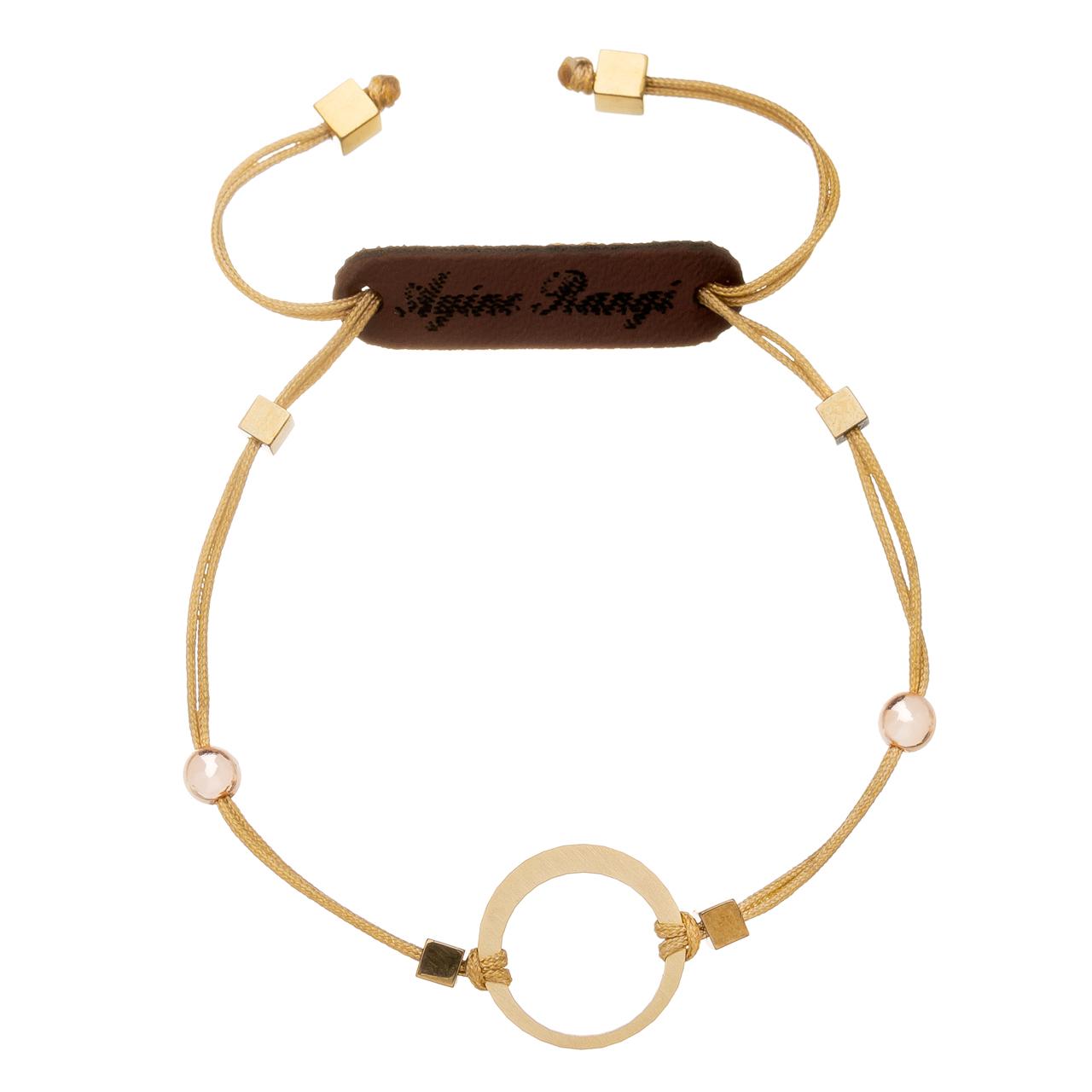 دستبند طلا 18 عیار آیینه رنگی کد AR-H010