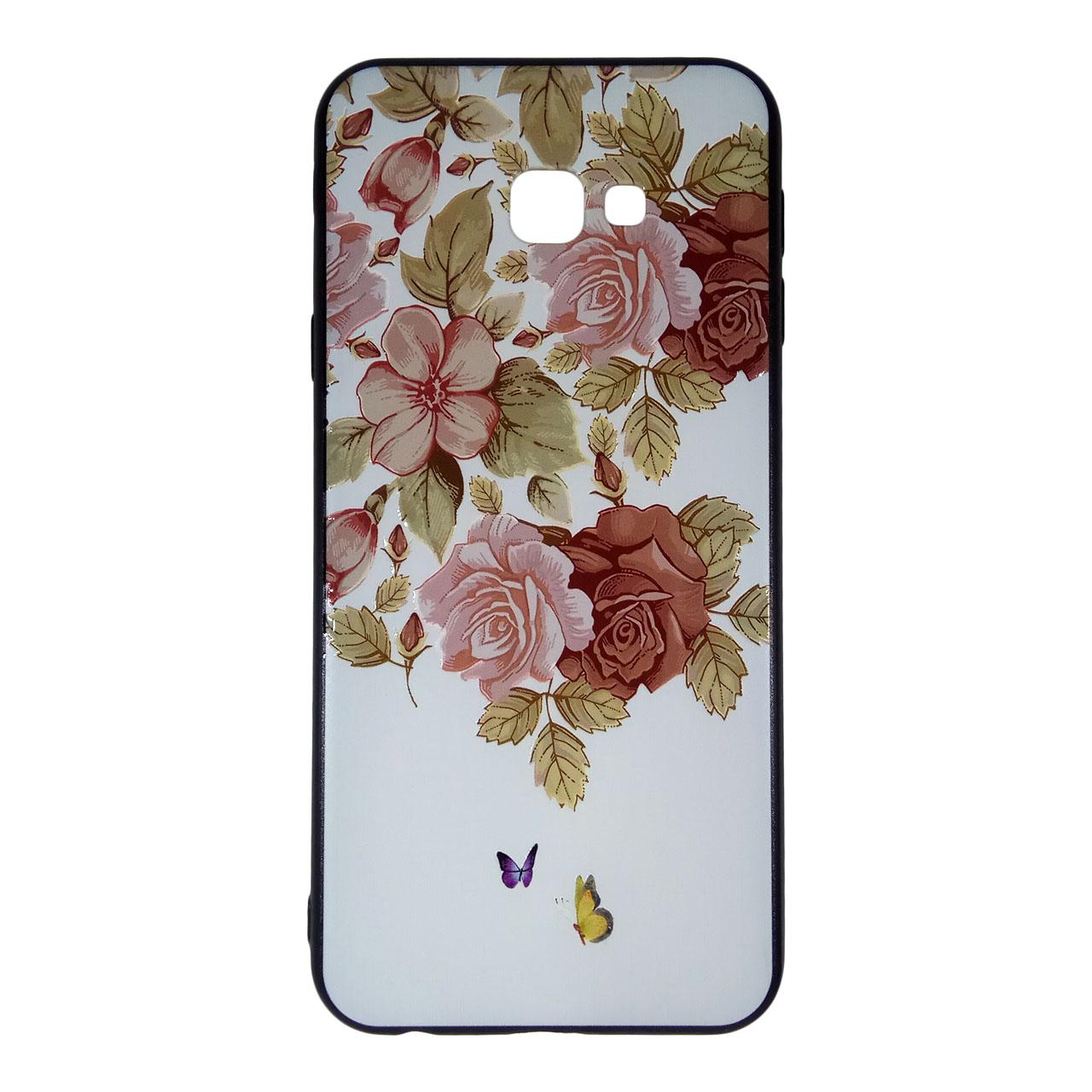 کاور آی پفت طرح گل کد B09 مناسب برای گوشی موبایل سامسونگ Galaxy J4 Plus / J4 Core