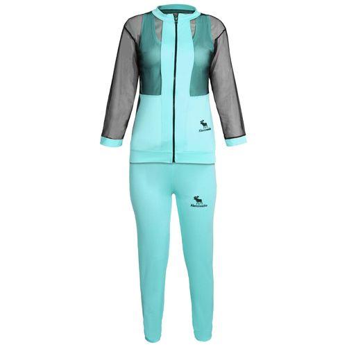 ست سویشرت و شلوار ورزشی زنانه کد A005 رنگ آبی