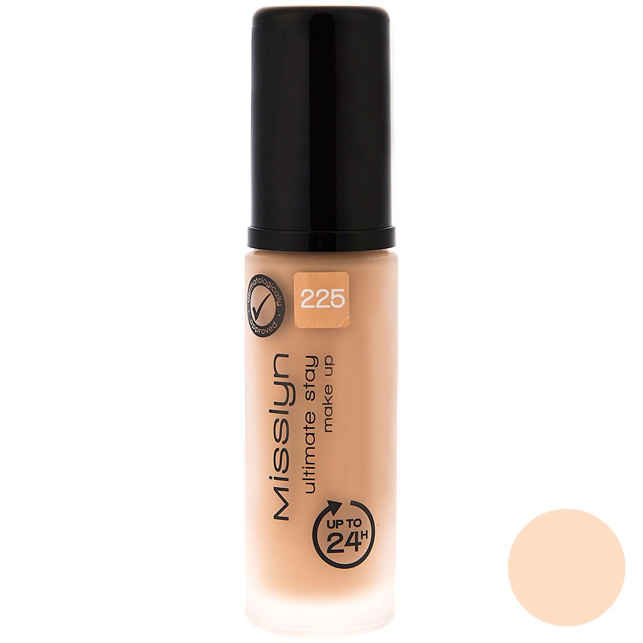قیمت کرم پودر میسلین سری Ultimate Stay Make Up شماره 225حجم 30 میلی لیتر