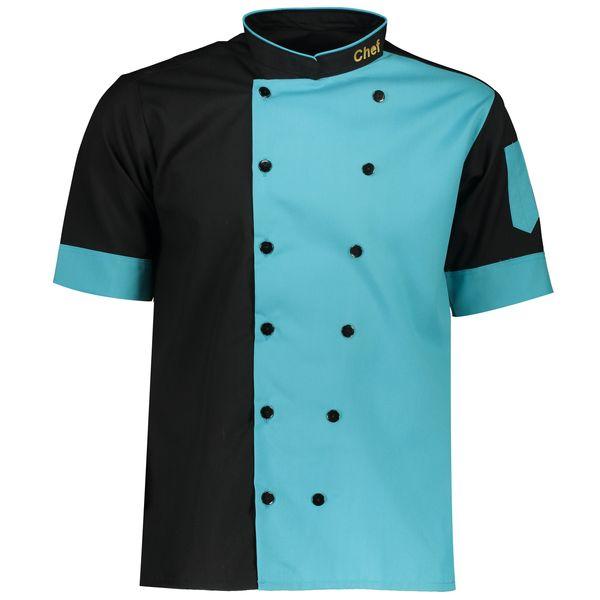 روپوش آشپزی مدل SHEF آبی فیروزه ای مشکی