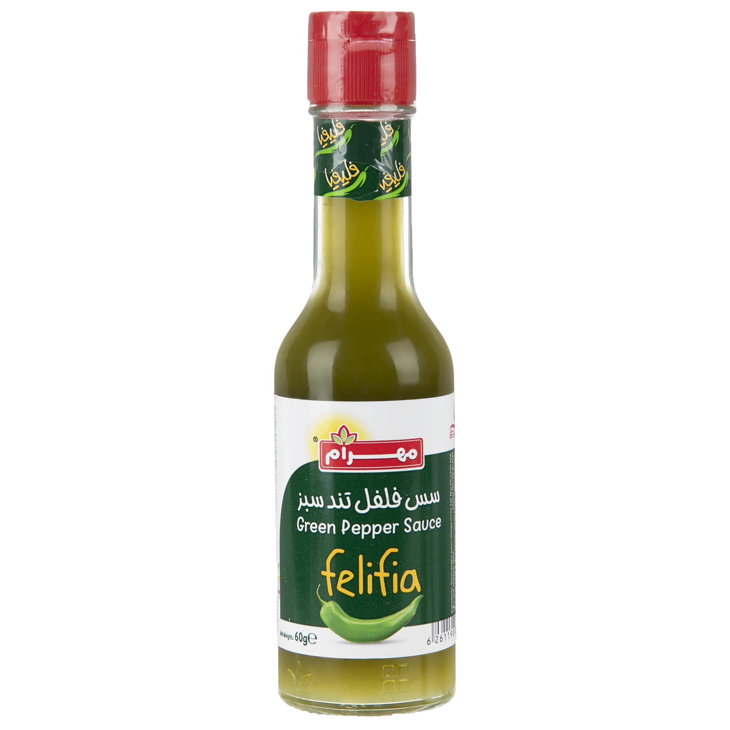سس فلفل تند سبز مهرام - 60 گرم