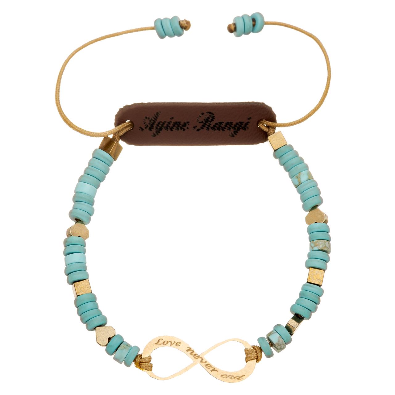 دستبند طلا 18 عیار آیینه رنگی طرح بینهایت کد AR-A03